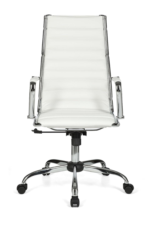 Schreibtischstuhl design  Amstyle SPM1.114 Design Classic Director's Chair Geneva 1 White ...