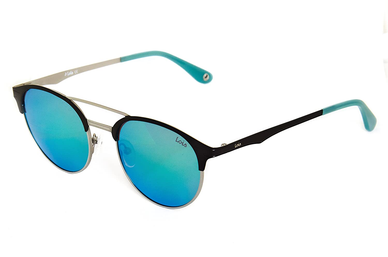 2274e7800b LOIS - Lois Mara GRN Green, Gafas de Sol Moda Unisex Metal, Negro/