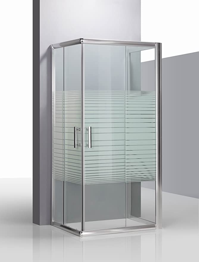 Piushopping – Cabina de ducha de tres lados, de cristal ...