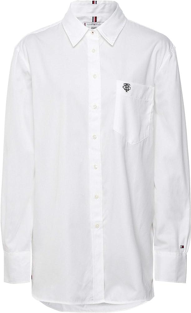 Tommy Hilfiger Delia - Camisa para mujer, color blanco Blanco blanco 36: Amazon.es: Ropa y accesorios