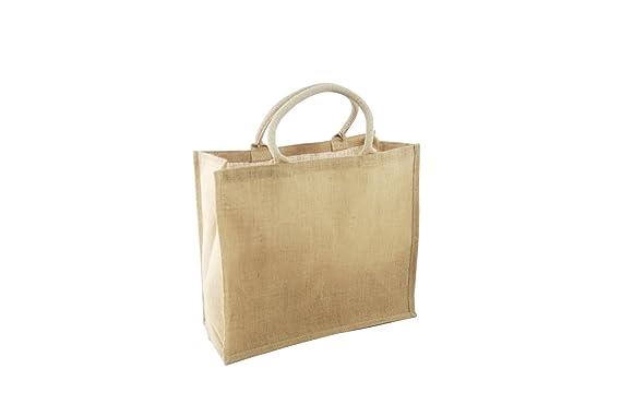 5c06e364751 Large Natural Jute Hessian Bag (40 x 36 x 18cm) JS01N  Amazon.co.uk ...