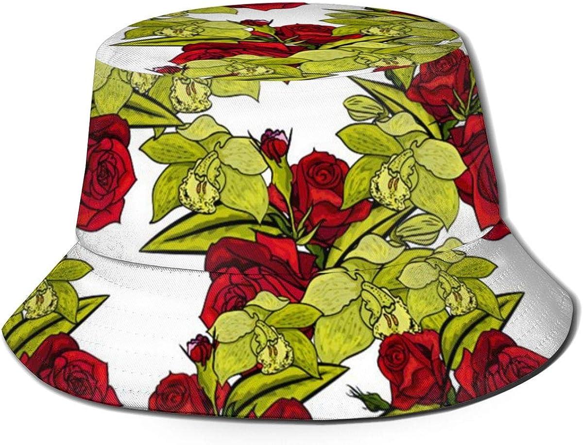 Rose Flower Pattern Bucket...