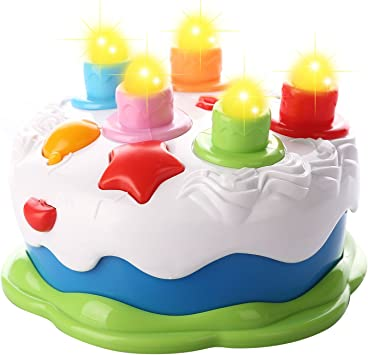 Amazing Kids Birthday Cake Toy For Baby With Counting Candles Music Personalised Birthday Cards Veneteletsinfo