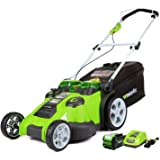 Greenworks 40V 20-Inch Cordless Twin Force Lawn Mower, 5Ah Battery and Charger Included