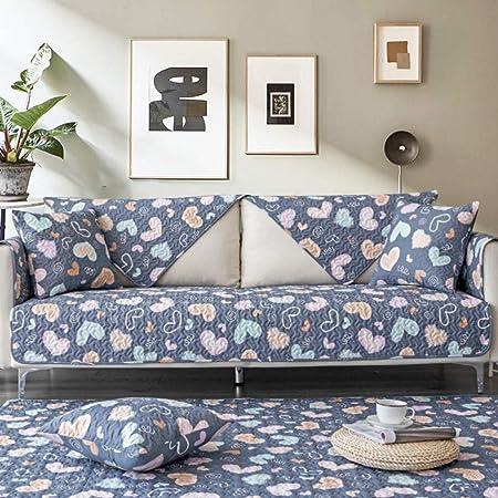 YTSM Fundas Sofa Chaise Longue,Funda de sofá de Tela de algodón Antideslizante Cuatro Estaciones Universal Lavable a máquina-Fall in Love_90 * 180cm(1PCS): Amazon.es: Hogar