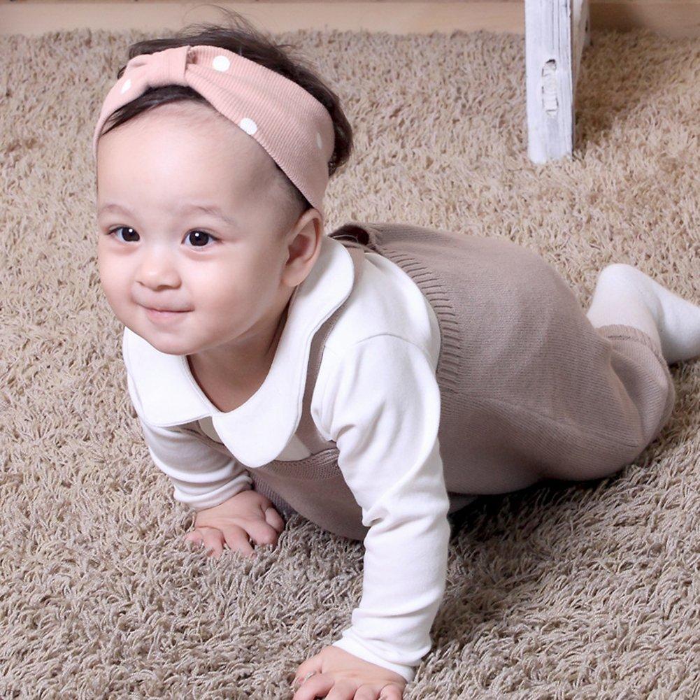 CC Shop Baby Girl Boy Knit Overalls Shoulder Strap Crossed Back Jumpsuits Romper