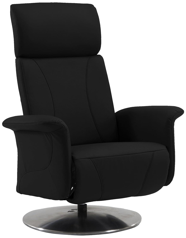 Sino-Living SE-813 Relax- und Ruhesessel in Dickleder, schwarz mit manueller Verstellung