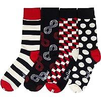 Happy Socks Unisex Eternity Themed Gift Box Set, Four Pairs of Crew Socks