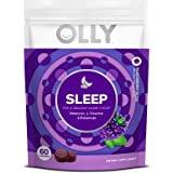 OLLY Sleep Melatonin Gummy, All Natural Flavor and Colors with L Theanine, Chamomile, and Lemon Balm, 3 mg per serving…
