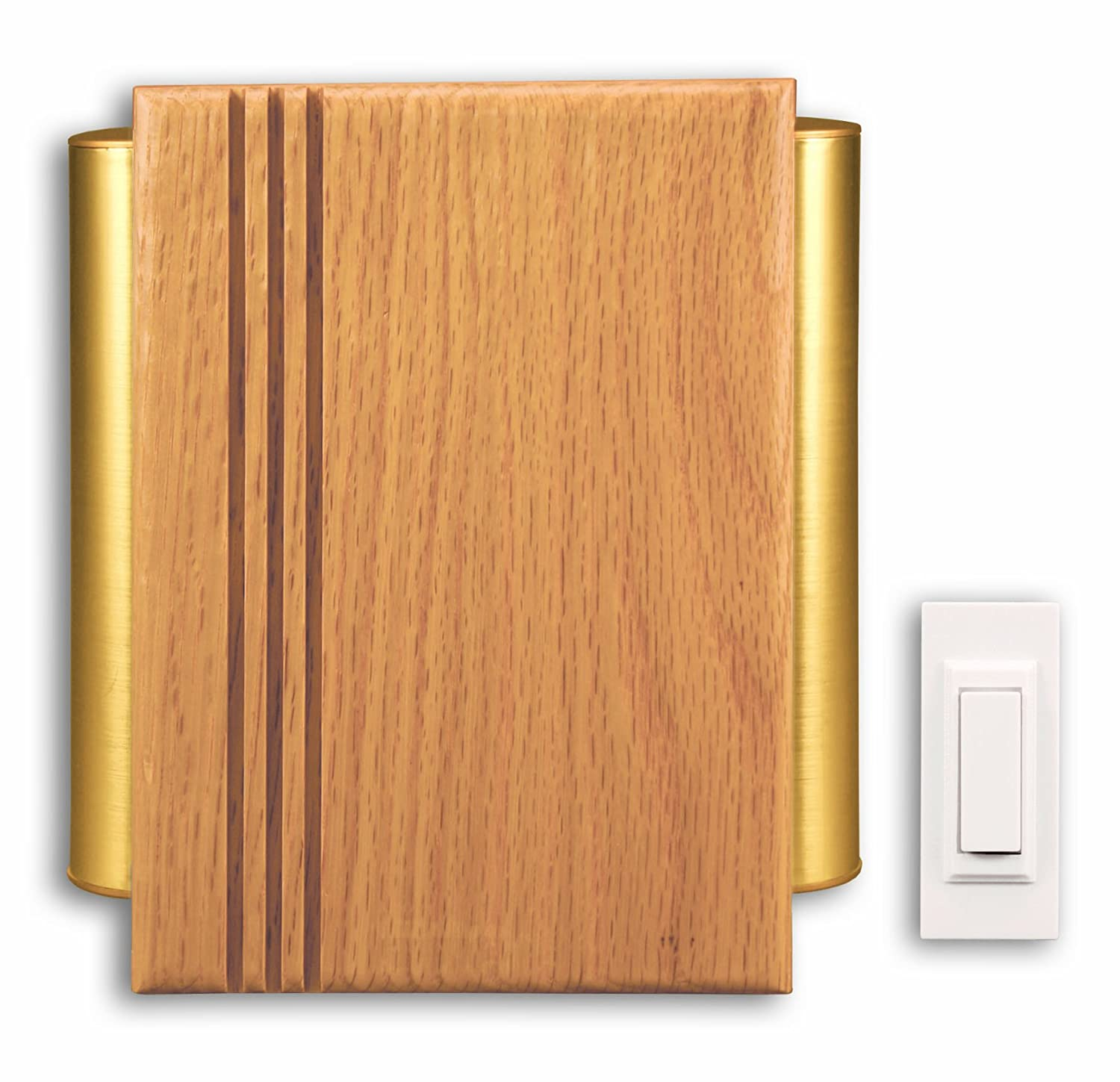Heath Zenith SL-7882-02 Traditional Décor Wireless Door Chime Oak and Satin-Finish Brass - Doorbell Kits - Amazon.com  sc 1 st  Amazon.com : door chimes - pezcame.com