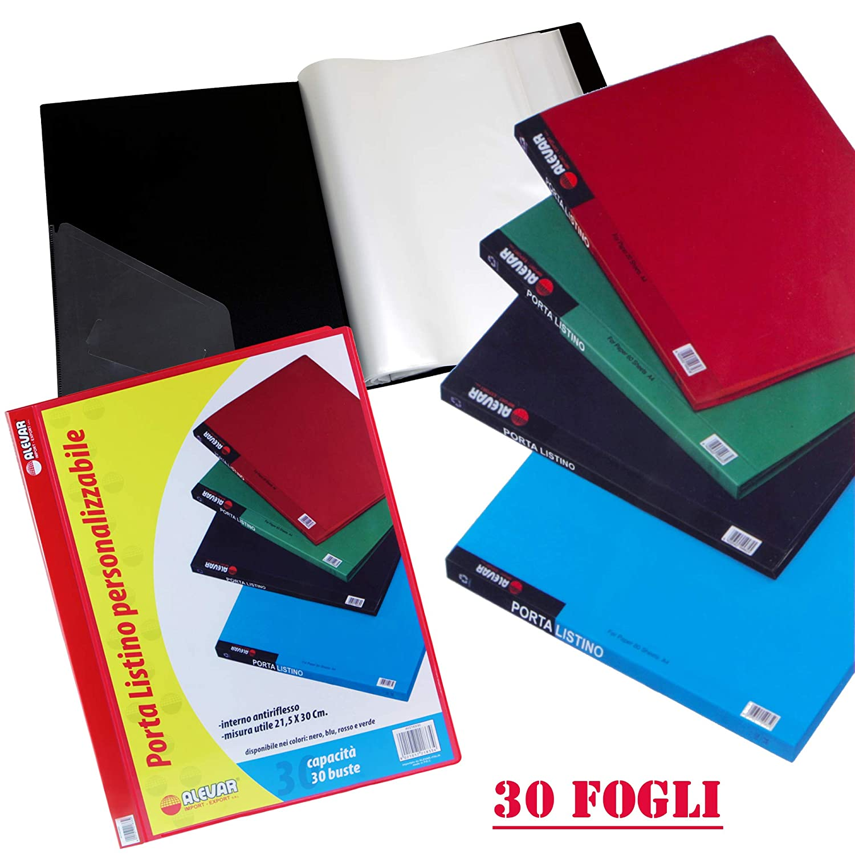 Portalistino 30 Buste A4 Rosso Alevar 2183/30RD