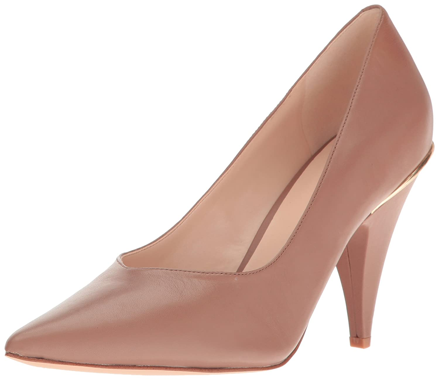 Nine West Women's Whistles Leather Pump B01MSW8WOS 9 B(M) US|Natural