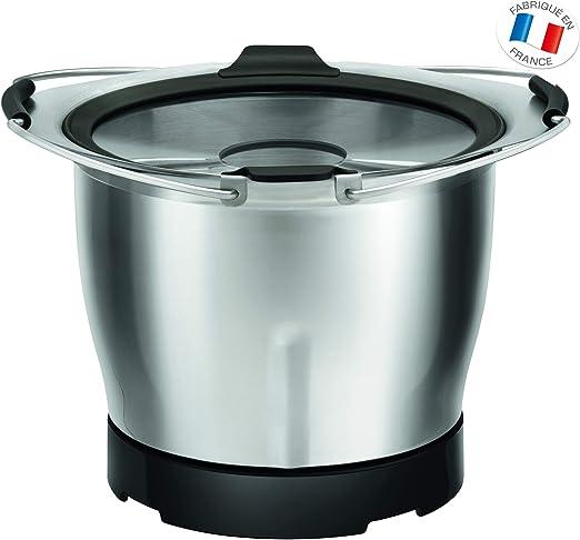 Moulinex XF38AE10 Cuenco batidora y accesorio para mezclar alimentos - Accesorio procesador de alimentos (Cuenco, 0,8 L, Negro, Acero inoxidable, Metal): Amazon.es: Hogar