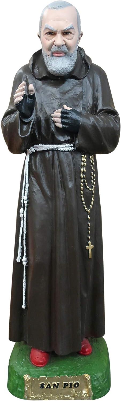 Ferrari & Arrighetti Padre Pio Statue, Hand-Painted Plaster (180 cm)