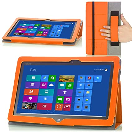 MoKo Slim Cover Case for ASUS VivoTab Smart ME400 ME400C 10 1 inch Windows  8 tablet, ORANGE