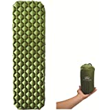AMPM Outdoors Lightweight Sleeping Pad For Camping, Backpacking, Hiking With Travel Accessories, Easy To Inflate & Deflate w/Ultra-Compact Bag By