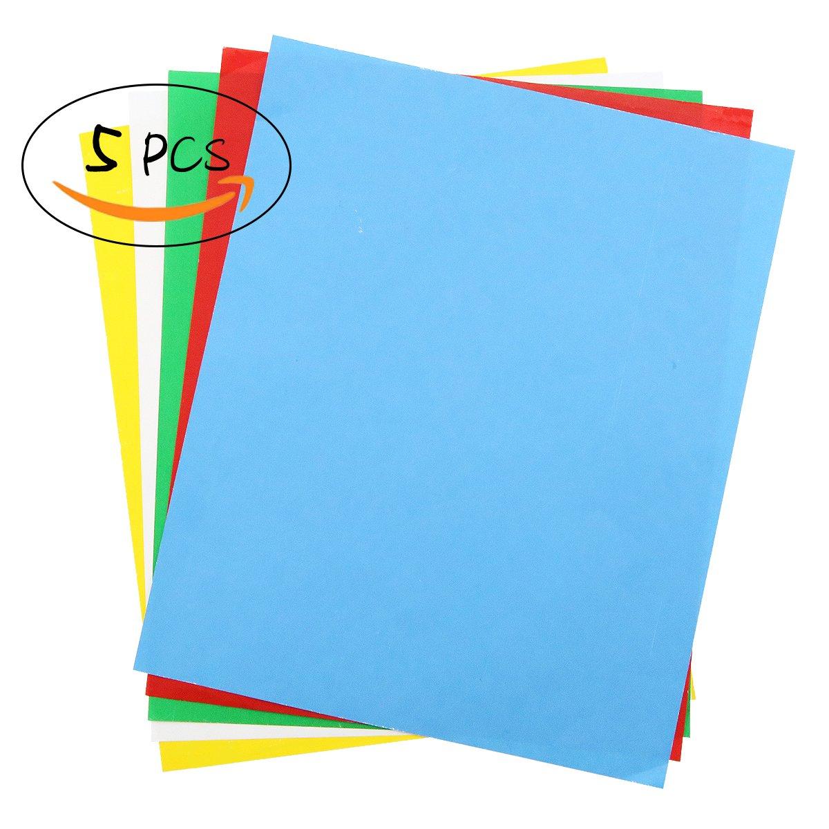 5pz transfer Paper, Carbon idrosolubile carta lucida 27,9cm × 22,9cm, trasferimento modello su stoffa, tessuto, tela, carta per casa cucito punto croce vernice 9cm × 22 GinoDirect