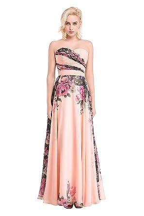 Floral Chiffon Prom Dress