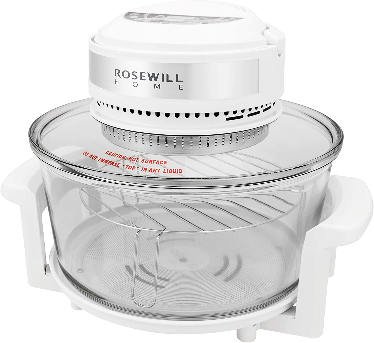 Rosewill RHCO-16001 Infrared Halogen Convection Technology Digital Oven with extender ring