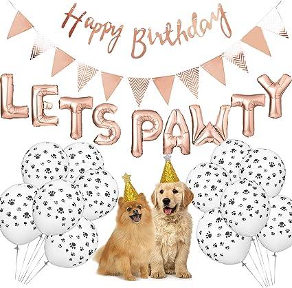 Amazon.com: Suministros de fiesta de cumpleaños para perros ...