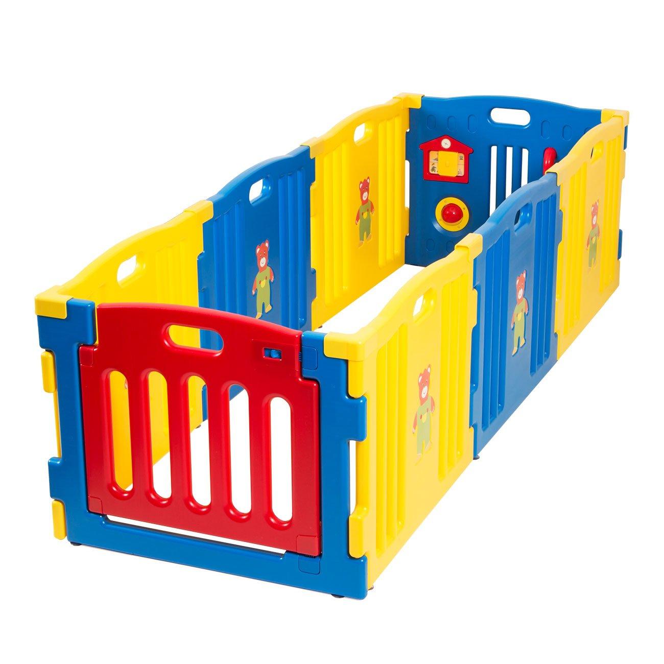 Amazon Com Kidzone Baby Playpen Kids 8 Panel Safety Play Center