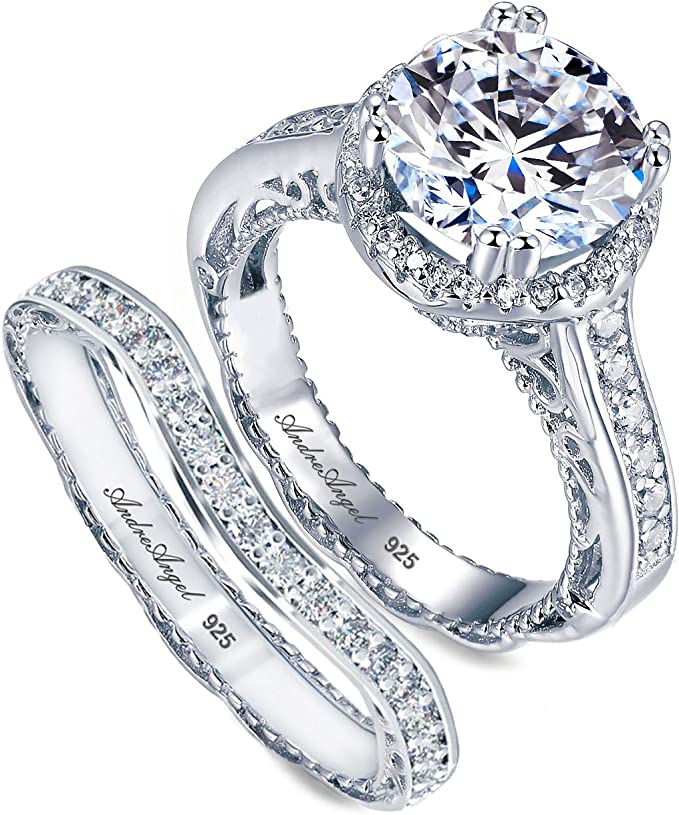 0.50 Cts Cubic Zirconia  Sterling Silver 925 Ring  Rhodium plated Nickel-Free  MadDuckJewels RG1526