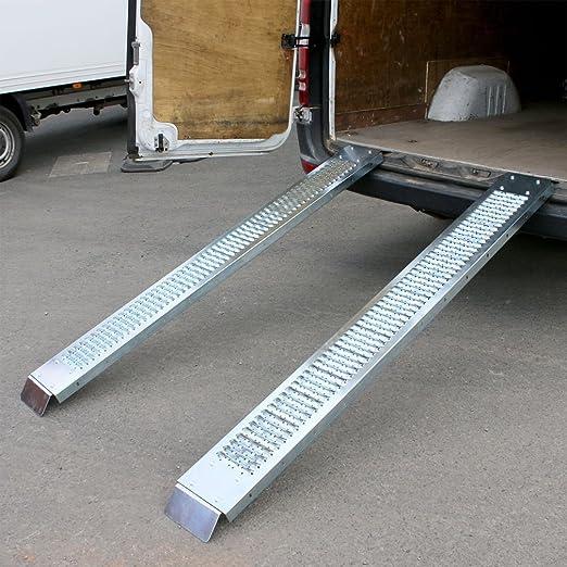 400 kg rampa de carga de acero 1,8 m remolque Van camión moto quad ...