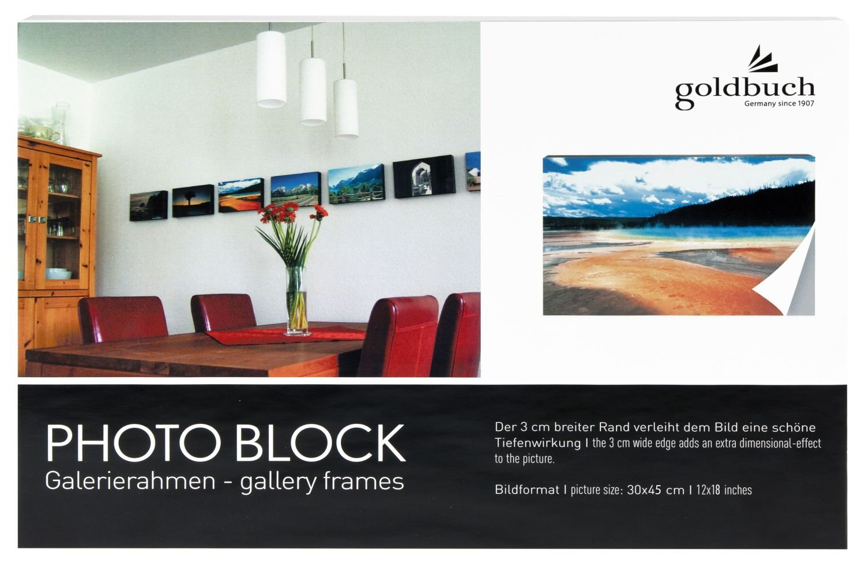 Amazon.de: Goldbuch 900128 Fotoblock aus Holz, Bildformat 30 x 45 cm ...