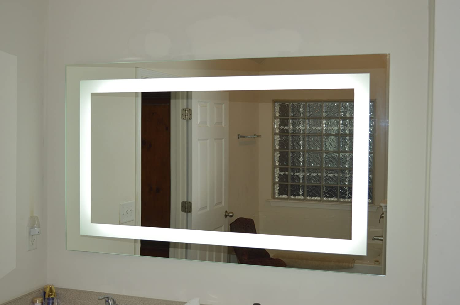Amazon.com: Lighted Vanity Mirror LED MAM86036 Commercial Grade 60 ...
