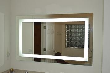 vanity mirror 36 x 60. Lighted Vanity Mirror LED MAM86036 Commercial Grade 60 quot  Wide x Amazon com