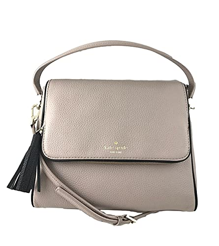 Kate Spade Chester Street Miri Pebbled Leather Crossbody Bag Shoulder Purse  Handbag in Almond Black b6e54947fe2d8