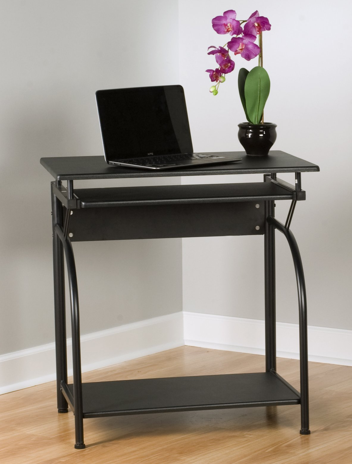 computer desk study table w keyboard tray bottom shelf. Black Bedroom Furniture Sets. Home Design Ideas