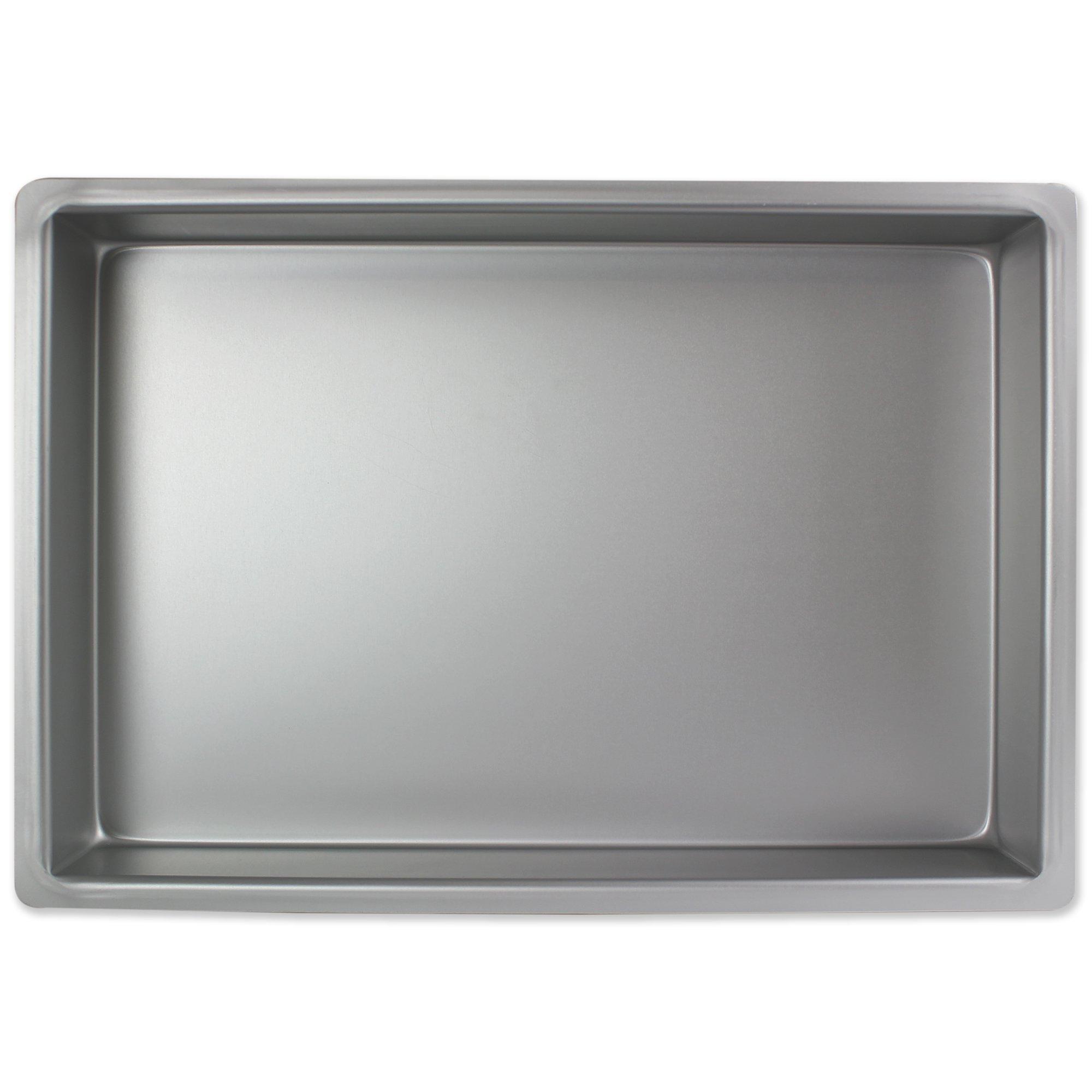 PME Professional Aluminum Oblong Cake Pan (9 x 13 x 4)''), Standard Silver