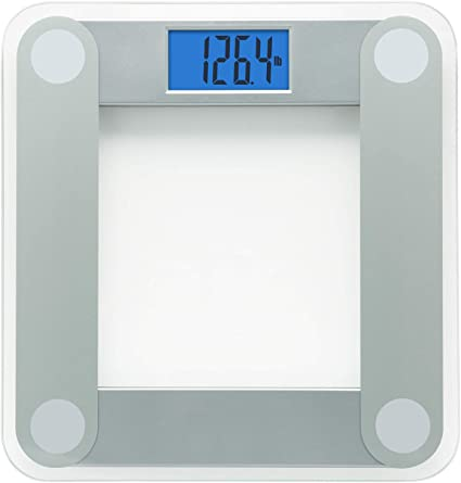 Amazon Com Eatsmart Products Free Body Tape Measure Included Digital Bathroom Scale With Extra Large Lighted Display One Size Clear Health Personal Care