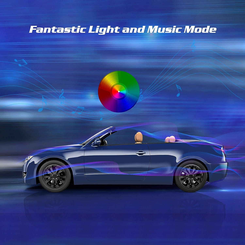 Auto Led Innenbeleuchtung Tecboss 4pcs 72 Led Auto Led Strip Rgb Auto Innenraumbeleuchtung Mit App Wasserdichte Mehrfarbiger Musik Auto Fußraumbeleuchtung Für Iphone Android Usw Auto