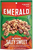 Emerald The Original Salty Sweet Mixed Nuts, Stand Up Resealable Bag, 5.5 Ounce