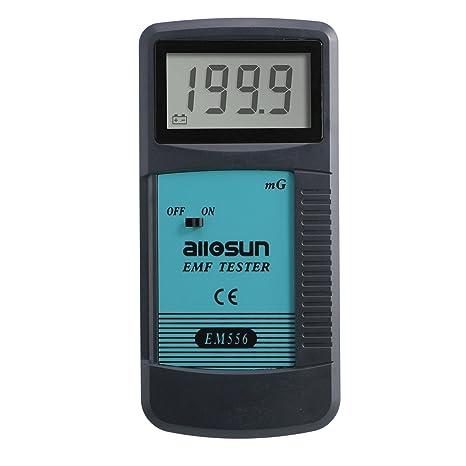 Amazon.com: ALLOSUN EM556 Digital EMF Meter Electromagnetic Radiation Detector Dosimeter: Home Improvement