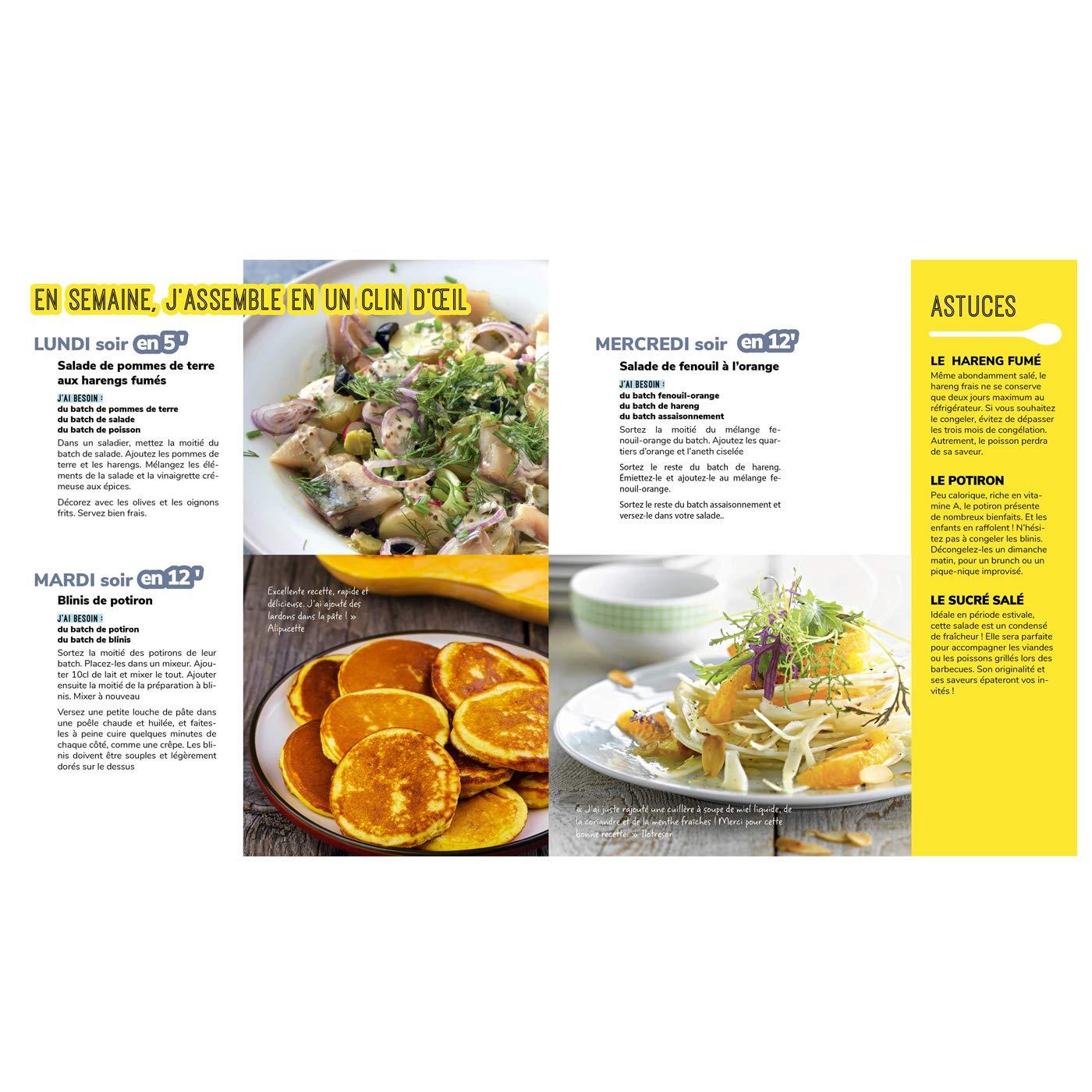 Amazon Fr Les Meilleures Recettes De Batch Cooking Marmiton Preparez Tous Vos Plats De La Semaine Marmiton Livres