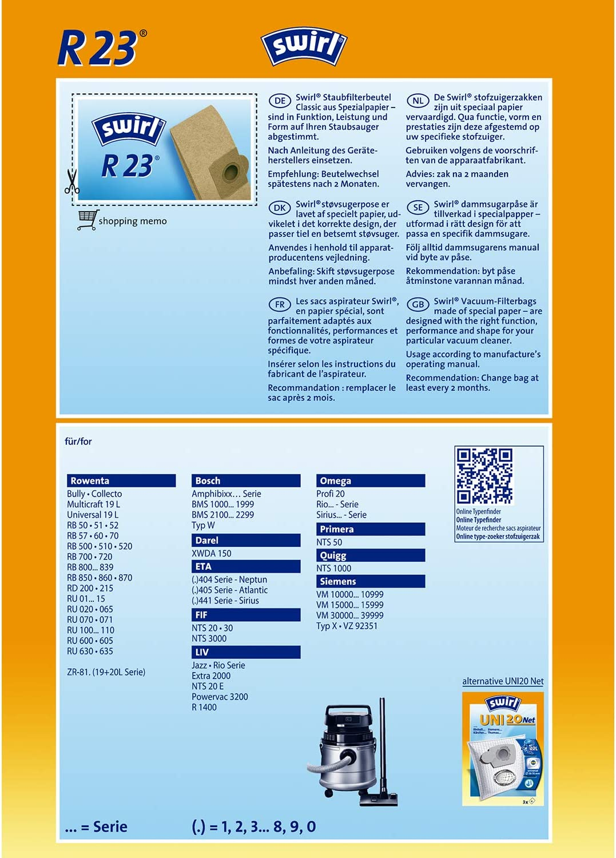 Staubsaugerbeutel passend für Bosch BMS 1000-1999 Serie 5,10,15,20