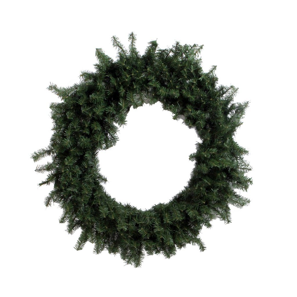 Vickerman 72'' Unlit Canadian Pine Wreath
