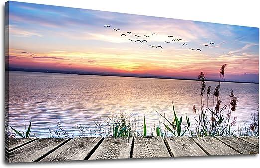 Sunset On The Lake Art Print Home Decor Wall Art Poster C