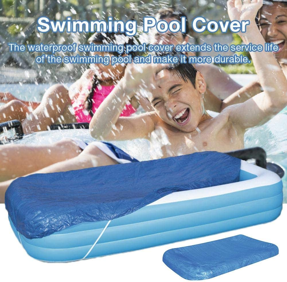 Lightcolor 262 175CM Swimming Pool Cove,Pool Covers,Pool Cover Square Dustproof Rainproof Thickened Pool Cover Protector for Swimming Pool Safety Cover