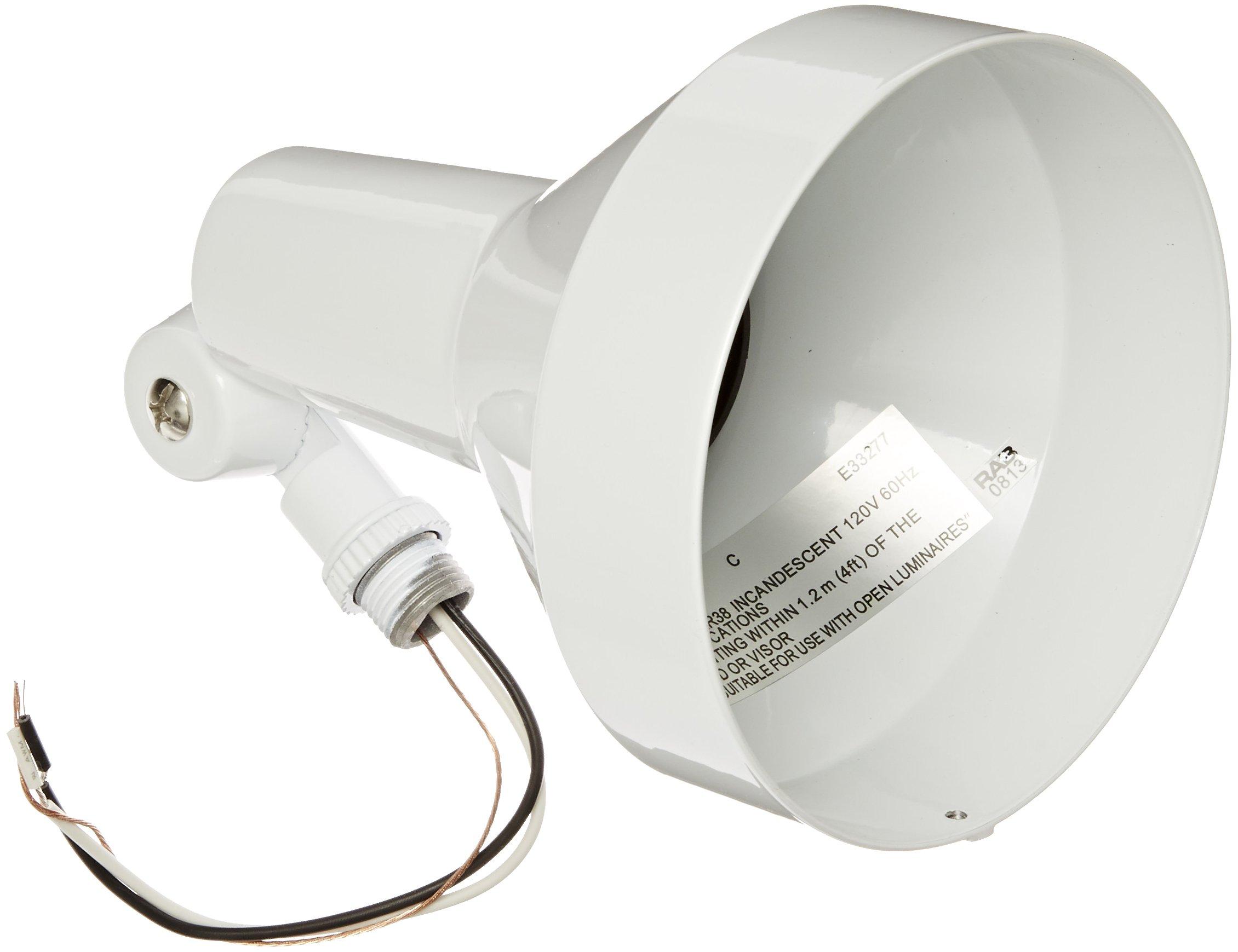 RAB Lighting H101W Landscape Bell Shaped H System Par Flood, PAR38 Type, Aluminum, 150W Power, White