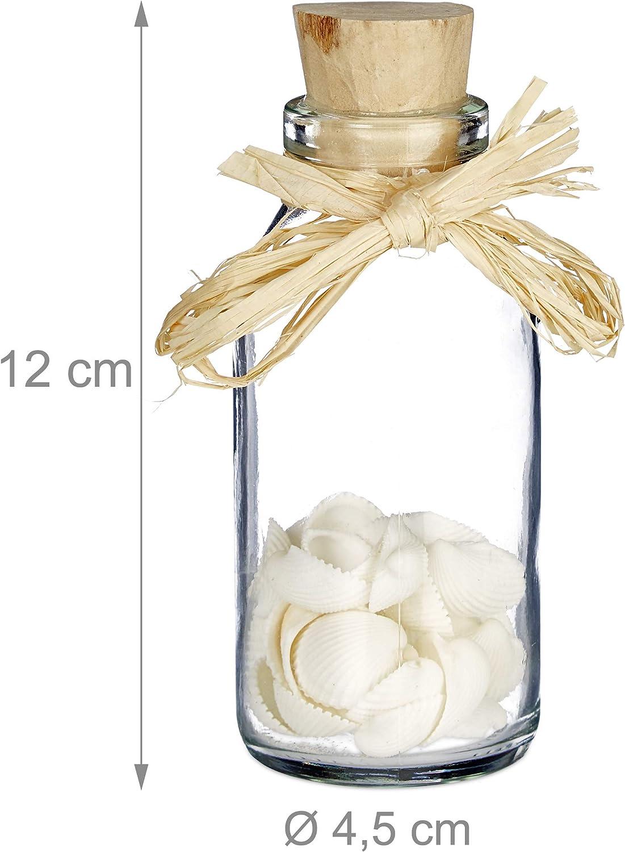 Dekoration Muschel Deko Badezimmer Glasflaschchen Mit Korken Maritime Sea Shell Dekoration Mobel Wohnen Subzy Mk