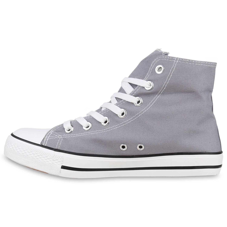 Stiefelparadies Unisex Damen Flandell Herren Sneaker high Übergrößen Flandell Damen Grau Arriate 76e546