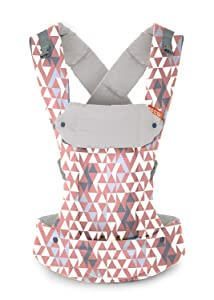 Beco Gemini Baby Carrier - Geo Dusty Pink, Sleek and Simple 5-in-1 All Position Backpack Style Sling for Holding Babies, Infants and Child from 7-35 lbs Certified Ergonomic