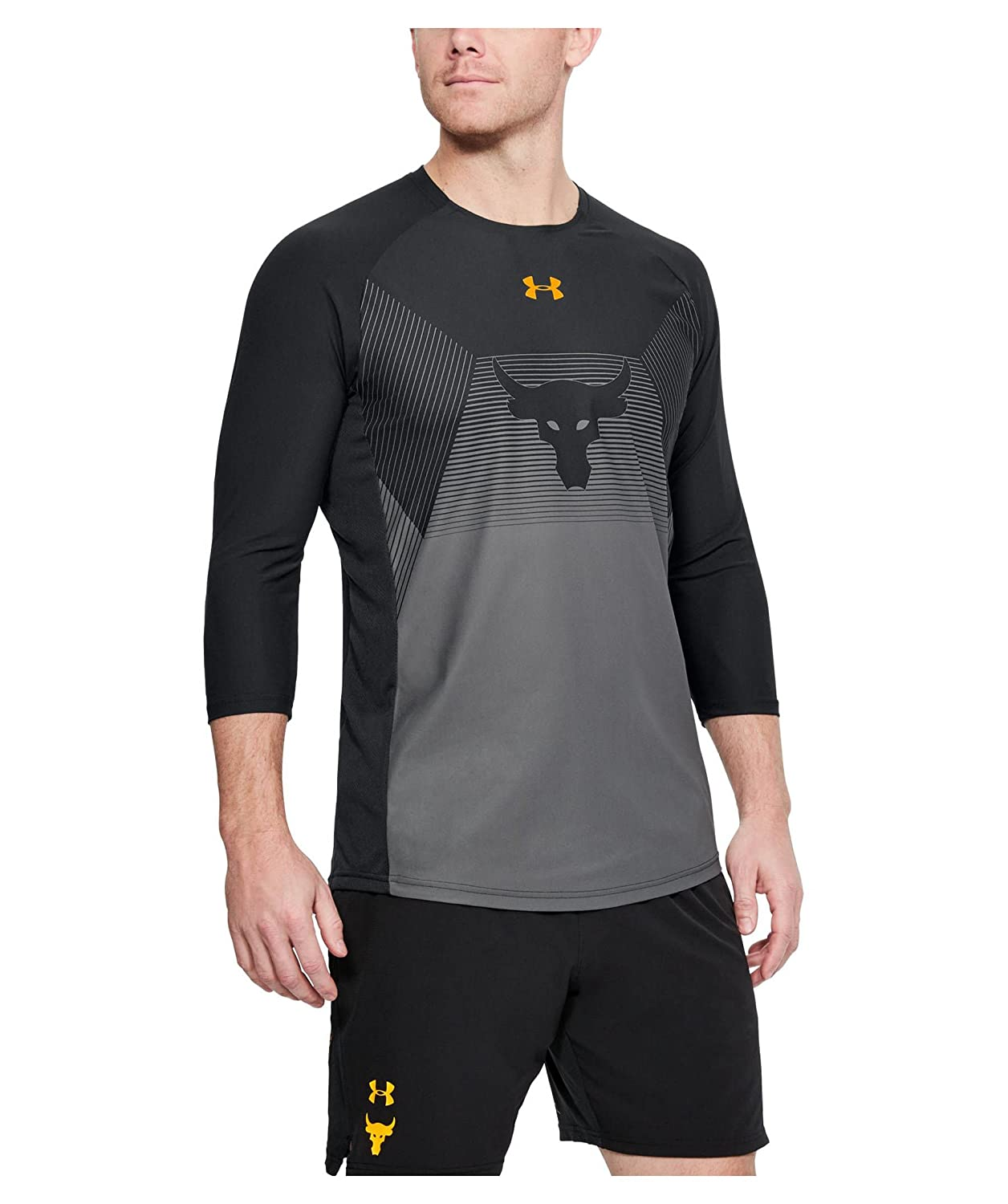 eeb08f76a8ab8f Under Armour UA x Project Rock Vanish ¾ Sleeve at Amazon Men s Clothing  store