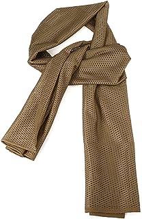 Fjiujin,Silencieux Multifonctionnel d'écharpe de Cou de Maille d'enveloppe de Camouflage de châle pour Le Cyclisme extérieur(Color:MARPAT Desert)