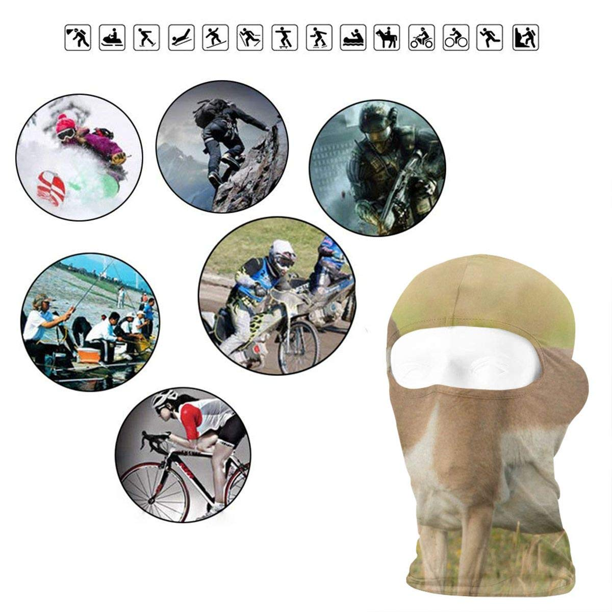 Balaclava Shining Red Poppies Watercolor Full Face Masks Ski Mask Hot Mens Motorcycle For Cycling
