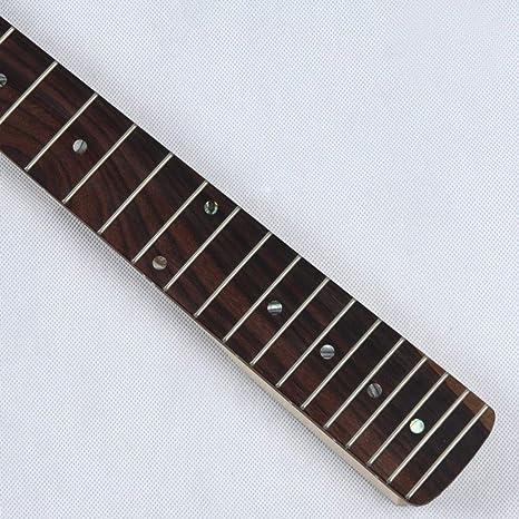 Lorenlli Reemplazo de mástil de arce Diapasón de palisandro para guitarra eléctrica Fender Strat Suministros de